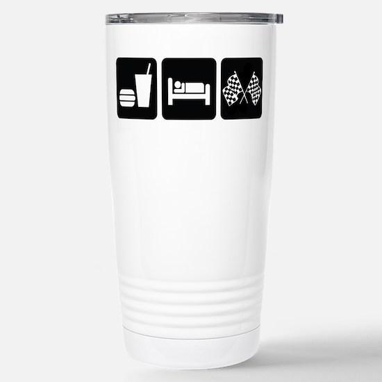 Eat Sleep Race Stainless Steel Travel Mug
