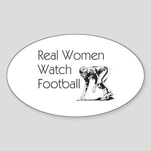 Football Fan Sticker (Oval)