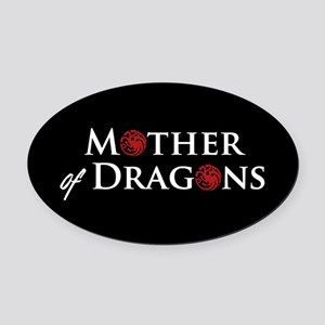 GOT Mother Of Dragons Oval Car Magnet