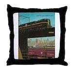 PENNA. RAILROAD 1960 Cover Throw Pillow