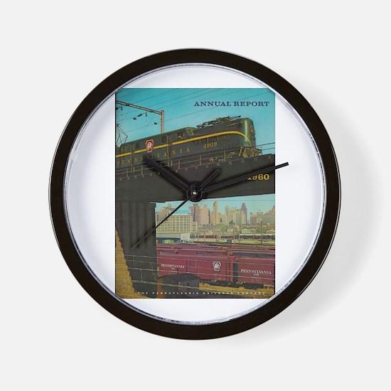 PENNA. RAILROAD 1960 Cover Wall Clock