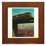 PENNA. RAILROAD 1960 Cover Framed Tile
