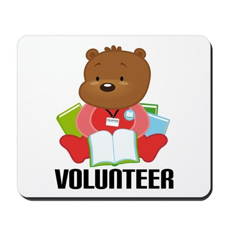 Volunteer Librarian Bear Mousepad
