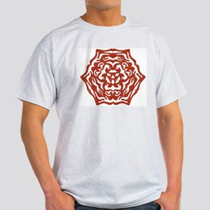 Red Snowflake Ash Grey T-Shirt
