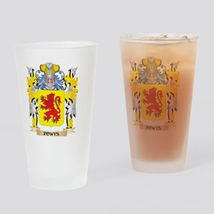 Powys Family Crest - Coat of Arms Drinking Glass