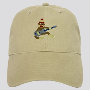 Sock Monkey Blue Guitar Cap