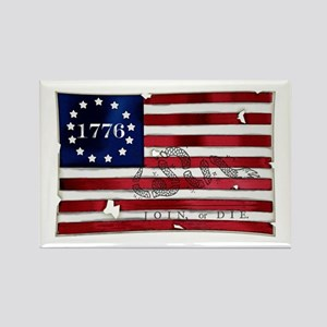1776 American Flag Rectangle Magnet