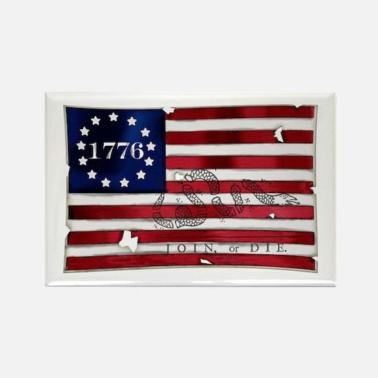 1776 American Flag Rectangle Magnet