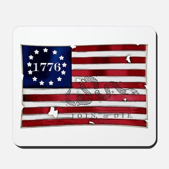 1776 American Flag Mousepad