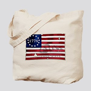 1776 American Flag Tote Bag
