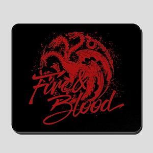 GOT Targaryen Fire And Blood Mousepad
