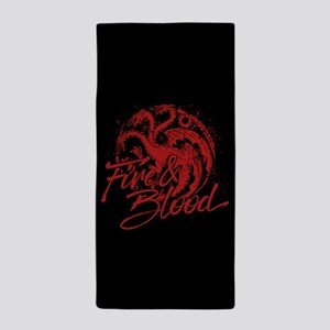 GOT Targaryen Fire And Blood Beach Towel