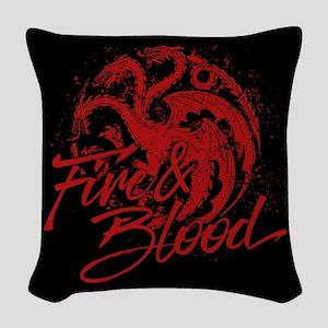 GOT Targaryen Fire And Blood Woven Throw Pillow