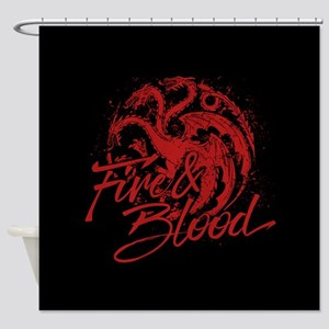 GOT Targaryen Fire And Blood Shower Curtain