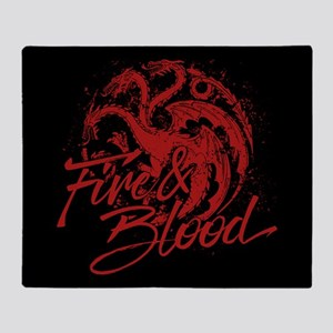 GOT Targaryen Fire And Blood Throw Blanket