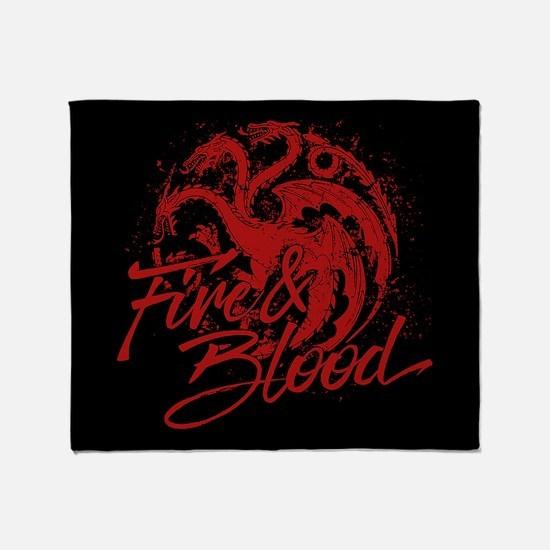 GOT Targaryen Fire And Blood Throw Blanket