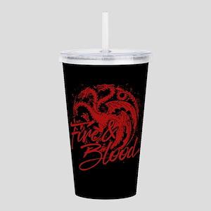 GOT Targaryen Fire And Blood Acrylic Double-wall T