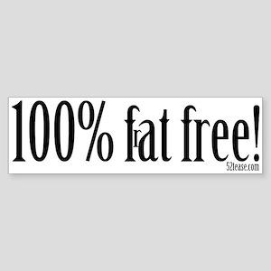 100% Frat Free Hipster's Bumper Sticker