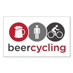 Beercycling Sticker (Rectangle)