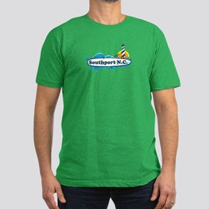 Southport NC - Lighthouse Design Men's Fitted T-Sh
