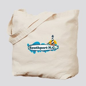 Southport NC - Lighthouse Design Tote Bag