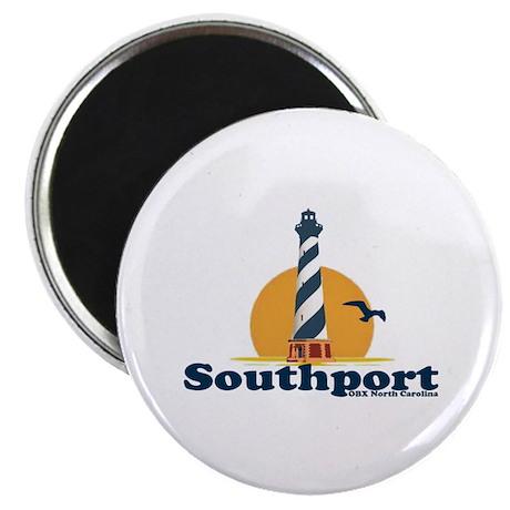 Southport NC - Lighthouse Design Magnet