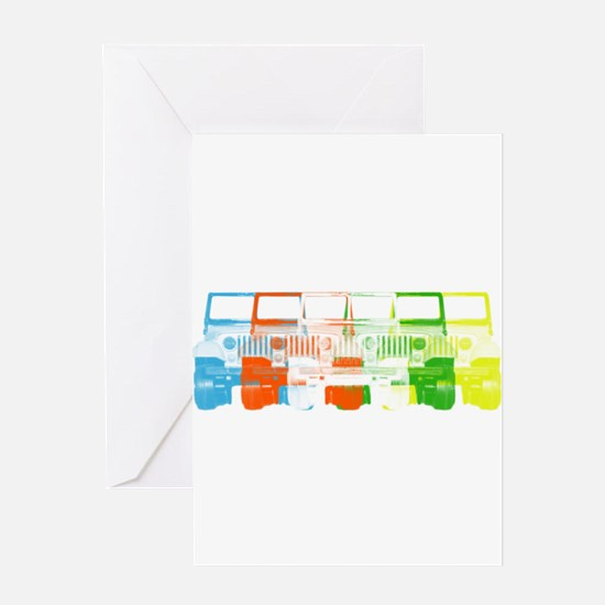 Bright Chromatic Jeep Greeting Card