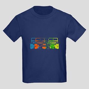 Bright Chromatic Jeep Kids Dark T-Shirt