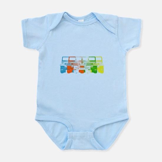 Bright Chromatic Jeep Infant Bodysuit