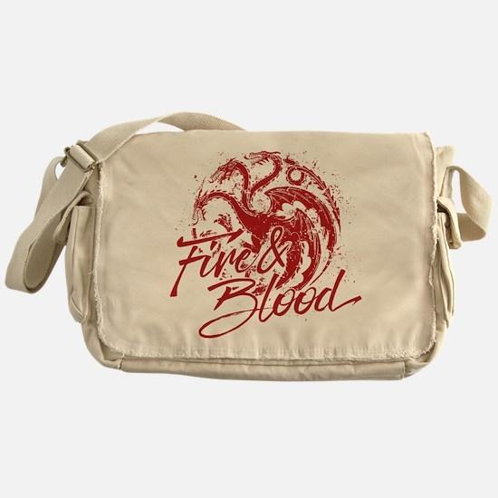 GOT Targaryen Fire And Blood Messenger Bag