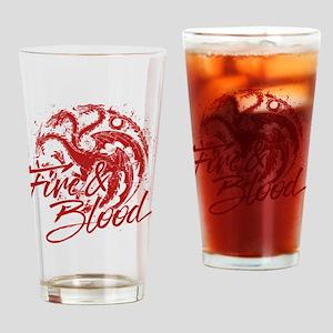 GOT Targaryen Fire And Blood Drinking Glass