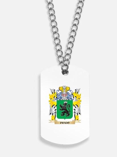 Prado Family Crest - Coat of Arms Dog Tags