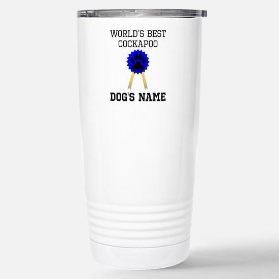 Cute Blue ribbon Travel Mug