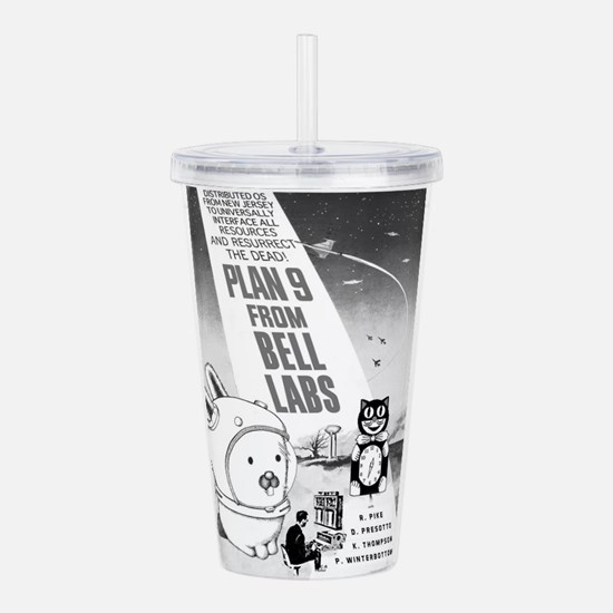 plan9 from bell labs Acrylic Double-wall Tumbler