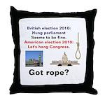 Hung Congress Throw Pillow