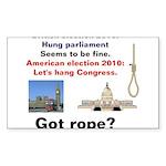 Hung Congress Sticker (Rectangle 50 pk)