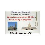 Hung Congress Rectangle Magnet (100 pack)