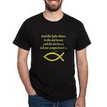 Bible Verse (John 1:5) Black T-Shirt