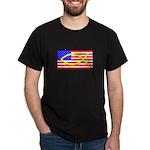 Flag and Fish Black T-Shirt
