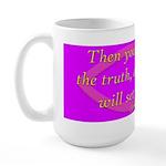 Bible Verse (John 8:32) Large Mug