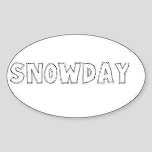 Snowday Sticker (Oval)