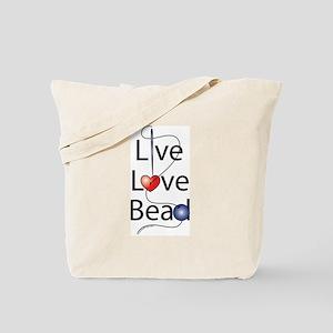 Live,Love,Bead Tote Bag