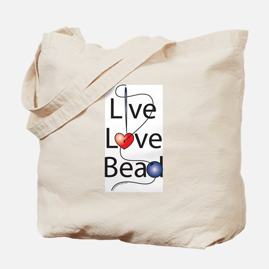 Live,Love,Bead Tote Bag