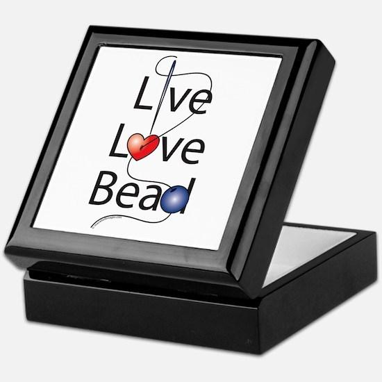 Live,Love,Bead Keepsake Box