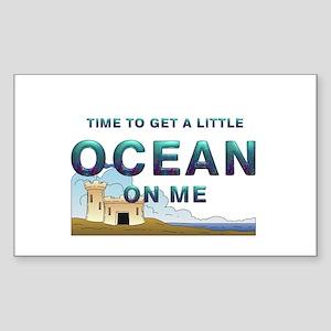 Ocean Time Sticker (Rectangle)