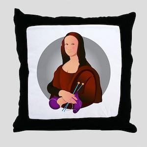 Mona Knits! Throw Pillow