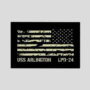USS Arlington Rectangle Magnet