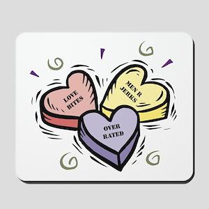Customizable Candy Hearts Mousepad