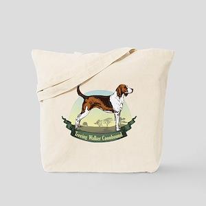 Treeing Walker Coonhound: Banner Series Tote Bag