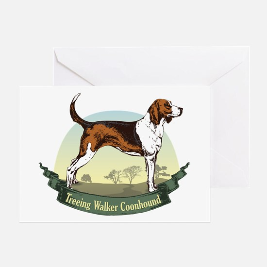 Treeing Walker Coonhound: Banner Series Greeting C